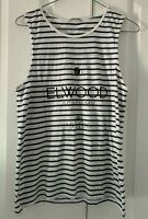 Ladies size 10 ELWOOD black and white stripe summer tank top