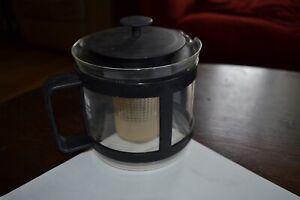 Bodum Glass Teapot Tea Infuser Jug Strainer Loose LeafTea Maker GermanMade retro