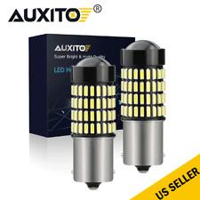 2x 1156 Ba15S Rv Trailer 102-Smd White Led Interior Backup Light Bulbs 12V-24V