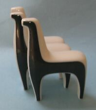 BING GRONDAHL B&G JORGENSEN 3 Blue HORSE FAMILY Group Modern Art Design FIGURINE