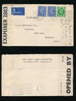 GB to BARBADOS WW2 CENSOR 2883 WEST INDIA COMMITTEE ENVELOPE FLINT HALL AIRMAIL