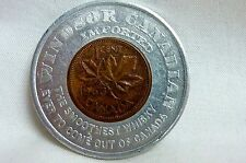1963 CANADIAN 1 CENT IN WINDSOR CANADIAN ALUMINUM HOLDER FREE SHIPPING  I-1311