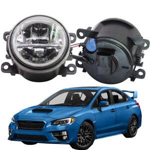 LED Fog Light + Angel Eye Rings Daytime Running Lights DRL Fit For Subaru WRX