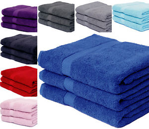 HEAVY 600 GSM LARGE HAND TOWELS & STANDARD BATH SHEETS EXTRA ABSORBENT 8 COLORS