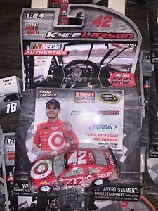 Kyle Larson 1/64 #42 Target Michigan Win 2016 Nascar Authentics Raced WinVersion
