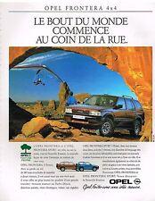 Publicité Advertising 1992 Opel Frontera 4X4
