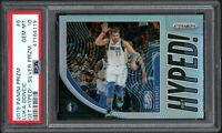 2019 Panini Prizm #6 LUKA DONCIC Get Hyped!-Silver Prizm PSA 10 Gem Mint