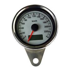Elektronischer Mini Tachometer weisses Ziffernblatt für Harley Davidson