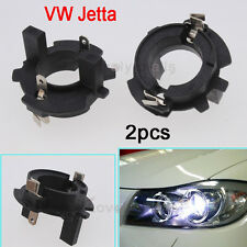 Car A Pair HID Xenon Bulb H7 Holder Adapters For Volkswagen MK5 GTI Golf Jetta