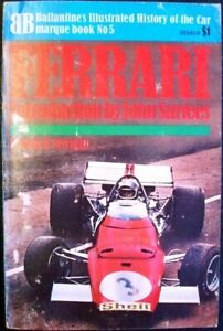 FERRARI BALLANTINES Illustrated History MARQUE Car Book No 5 Leonard Setright