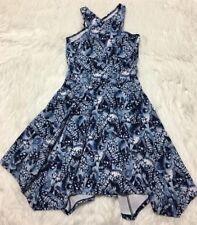 Abercrombie Kids Dress Floral Asymmetrical Hem Cut Out Back Girls 16