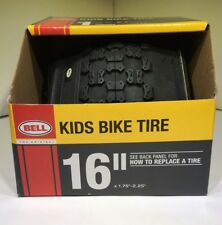 "Bell Kids BMX Black Bike Tire 16"" Inch Wheel Sizes 1.75"" To 2.25"" Width"