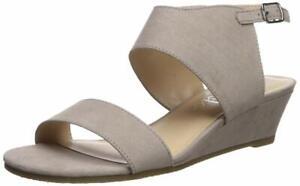 Callisto Women's Bronzer Wedge Sandal, Taupe Suede, Size 6.0