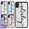iPhone XS Max XR X 8 7 Marble VI Personalised Name Shockproof Bumper Case Cover