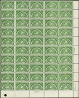 QE3a, RARE Dry Printing Sheet of 50 Stamps VF-XF NH Cat $870.00 - Stuart Katz