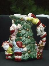 Fitz & Floyd Pitcher Old World Christmas Elves Tree  2 Quart