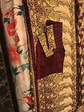 Gorgeous Stunning Benarasi Pure silk sari heavy pearl work with stitched blouse