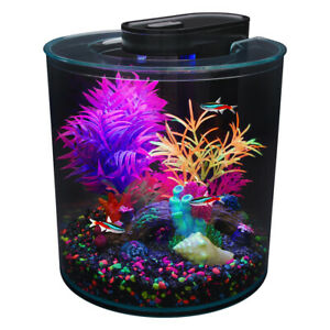 Marina iGlo 360 Aquarium Fish Tank 10L Starter Kit LED Lighting Colourful