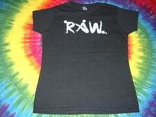 Raw Vegan Yoga Unisex Workout Gym Black Womens Slim T-Shirt Cotton-Medium-New-Nr