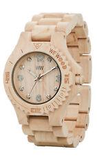 WeWOOD Deneb Beige Maple Wood Miyota Quartz Swarovski Crystals Wooden Watch