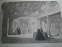 Throne Room and Chamber Mary de Medicis Palace Luxembourg Paris France 1860