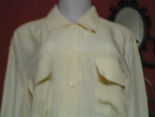 Women's Missees Vintage Talbots Size 10 Yellow Silk button Down Shirt EUc