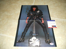 Kiss Paul Gene Simmons Signed Autograph 11x16 Magazine Photo PSA Certified