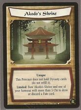 Legend Of The Five Rings L5R Tournament PROMO Akodo's Shrine Unique