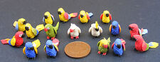 1:12 Scale Dolls House Miniature Small Multi Coloured Parrot Pet Bird Accessory