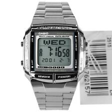 *NEW* CASIO UNISEX RETRO DIGITAL DATA BANK WATCH DB360 SILVER 1A RRP£50
