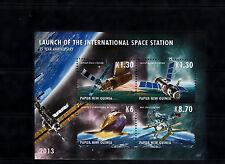 Papouasie-Nouvelle-Guinée 2013 neuf sans charnière lancement station spatiale internationale 4V m / s SALYUT MIR