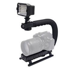 Mcoplus U-Grip Video Filming Handle Handheld Stabilizer + LED Video Light Lamp
