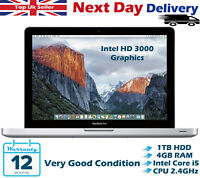 Apple MacBook Pro 13.3'' Intel i5 2.40Ghz 4GB RAM 1TB HDD Late 2011 High Sierra