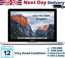 Apple MacBook Pro 13.3'' Core i5 2.40Ghz 4GB RAM 1TB HDD Late 2011 High Sierra
