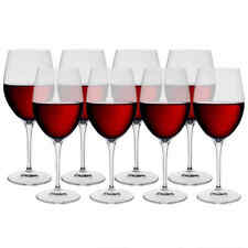 bormioli rocco red white wine glass 8PC set Italy crystal lead free