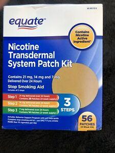 Equate Nicotine Transdermal System 56 Patch Complete 3-Step Kit