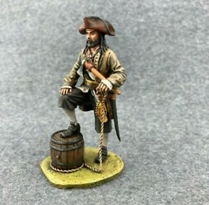painted by hand tin toy soldiers toy figures 54 mm. pirate Na-11k