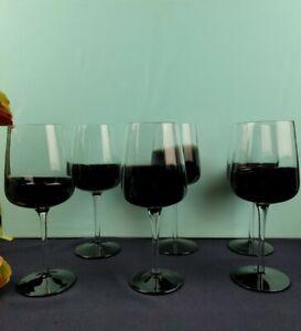 Half Black Half Clear Wine Glass Set of 6
