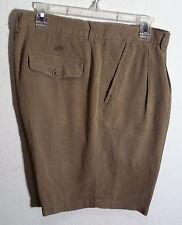 khaki silk shorts by Caribbean size 38