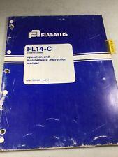 Fiat Allis Fl14c Crawler Loader Operators Manual