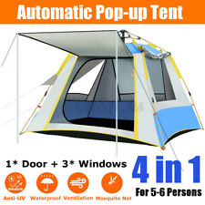5-6 People Camping Tent Waterproof Automatic Instant Pop Up Hiking 6.9*6.9*4.7ft