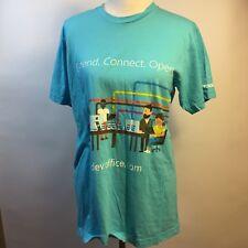 Microsoft Office 365 Windows T-Shirt Dev.Office.Com Graphic Unisex Blue Top Sz L