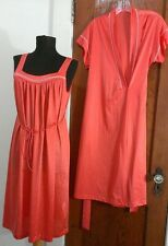 Women's J. C. Penney Robe and Nightgown Size P Petite Orange / Salmon Color