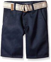U.S. Polo Assn. Big Boys' Twill Shorts - Navy - Size 12