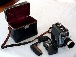 Vintage Kodak Electric 8 Zoom Camera & Case