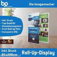ROLL UP DISPLAY SYSTEM inkl. DRUCK! 85x200cm Werbe-Banner mit Tasche