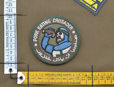 "Ricamata / Embroidered Patch ""Pork Eating Crusader"" with VELCRO® brand hook"