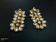 Kundan Traditional Wedding Bridal Bead Earrings Punjabi Women Jewelry Latesi 7G6