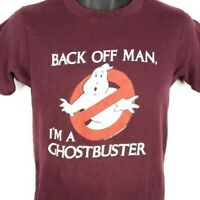 Ghostbusters T Shirt Vintage 80s Promo Back Off Man Made In USA Slim Fit Medium