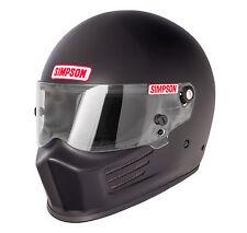 Simpson Bandit SA2015 White or Black Helmet/Lid Pre Drilled Holes All Sizes race